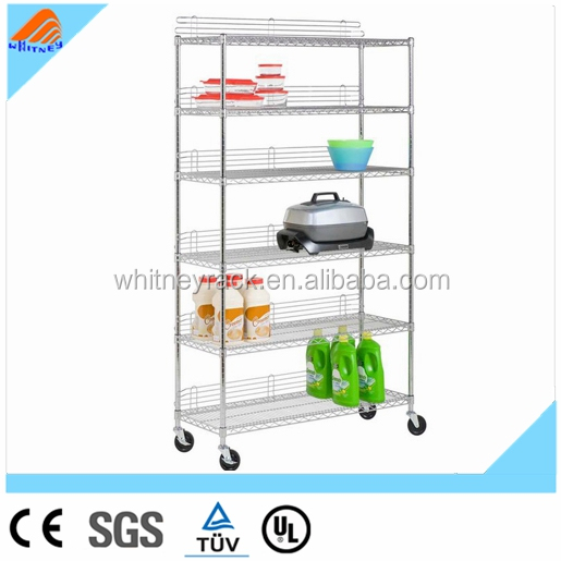 foldable stacking whalen step beam 5 tier stainless steel kitchen storage rack shelf
