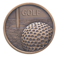 Antique Gold Golf Trophy Medals