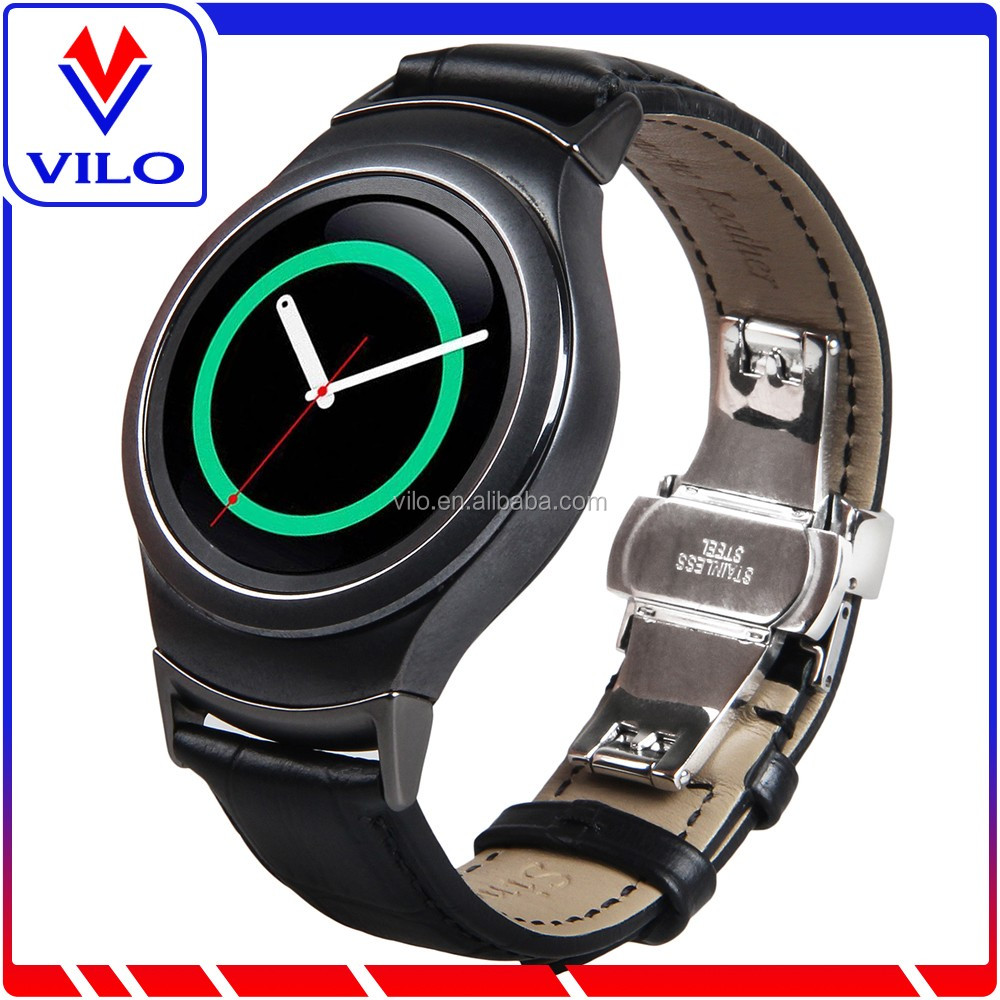 Luxury Genuine Leather Band Strap For Samsung Gear S2 SM-R720 Smart Watch, For Samsung Galaxy Gear S2 Wrist Strap