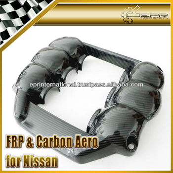 For Nissan R35 GTR GT-R Mines M-Style Carbon Fiber Engine Plug Spark Cover