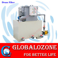 Aquaculture rotary drum filter for fish farming water treatment