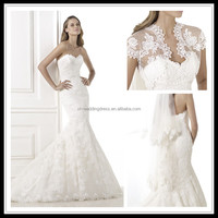 Sweetheart With jacket Mermaid lace wedding dresses FXL-332