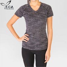 Wholesale Slim Fit Gym Tops Womens Jogging Workout Ladies T Shirt