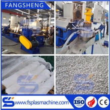 High quality plastic film extruder polyethylene woven bags recycling pelletizing machine