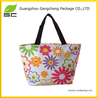 Large Tapestry Shopping Bag with fresh Flower