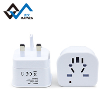 White Color Customized Universal Travel Wall Socket Plug Logo Adapter WIth 240V 10A