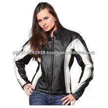 2013 Genuene Leather Women motorcycle fasion jacket