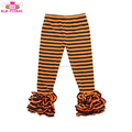 Halloween boutique wholesale ruffle icing capri legging high quality girl cotton icing pant