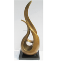 Large abstract golden fiberglass sculpture