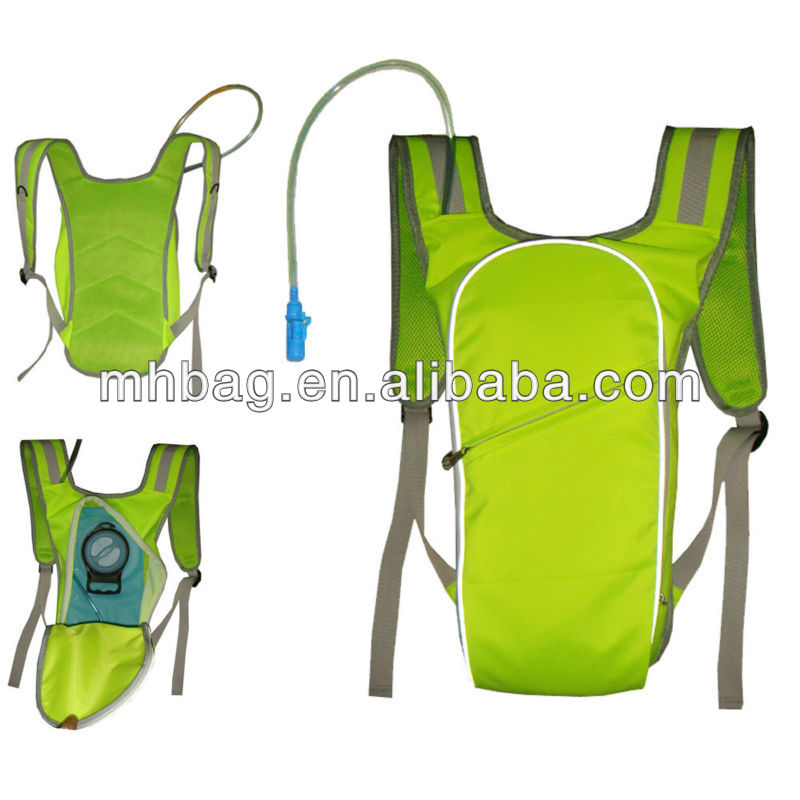 high visible reflective Hydration Pack,Fluorescence yellow hydration bladder pack