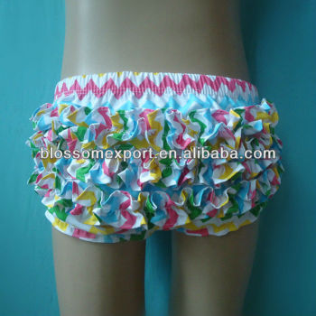 Hot design multi color baby girls chevron cotton bloomer