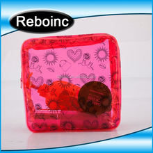 Wholesale plastic pvc cosmetic make up bag case