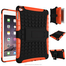Factory direct cheap slim ballistic armor stand hybrid case for Apple iPad mini 2 3 4 rugged skin