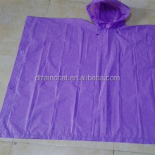 Outdoor essential Long Transparent PVC raincoat/rain poncho with customized logo for sale