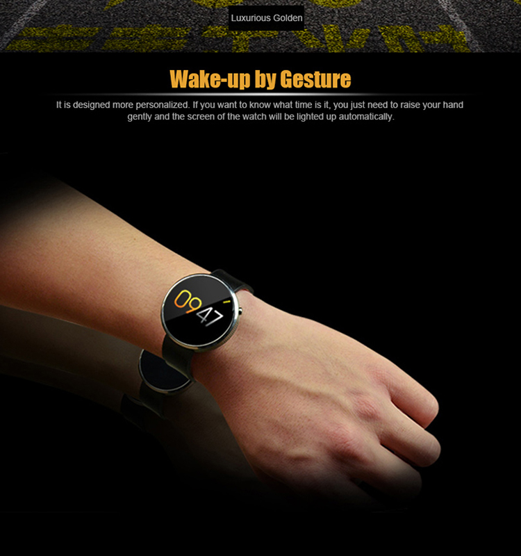 Heart rate monitor leather health smart watch intelligent sport bracelet manufacturer