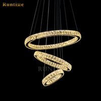 customized latest design three ring shape LED chandelier hot selling in 2014
