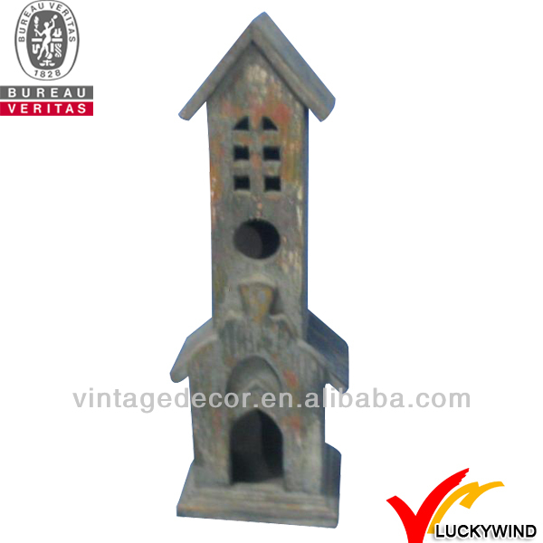 new product 2013 small wooden bird houses shabby chic