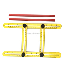 Metal Knobs Multi Angle ABS Ruler Measures All Angles And Forms Angleizer Template Tools