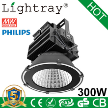 super brightness 300w led flood light led high bay light 36000 lumen for football field with philips smd 3030 meanwell driver