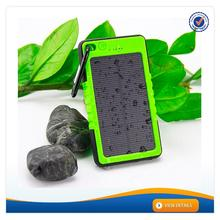 AWC606 6000mAh Factory Price waterproof portable 3.7v 5500mah lipo battery led solar panel charger