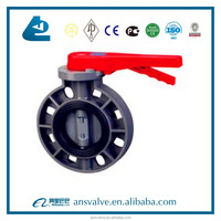 hand lever pvc butterfly valve