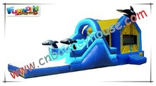 Ocean Dolphin inflatable slide bouncer COM-216