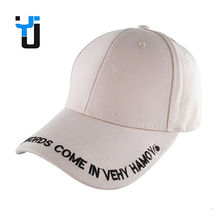 Custom Plain Cotton Letter Brim Embroidery Baseball Cap