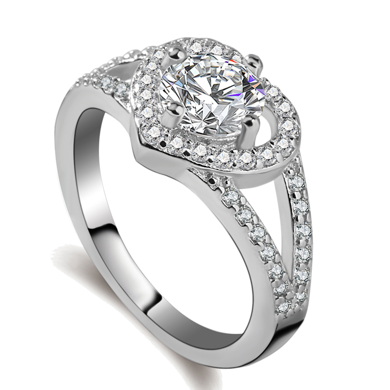 Wholesale 925 sterling silver diamond engagement ring for women