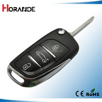 Horande 3 buttons remote car key with 434 MHz ID46 Chip for key Citroen remote chip key