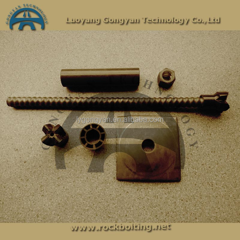 high strength hollow steel self drilling rock bolts