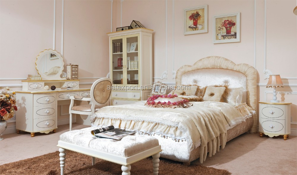 Princess Style Bedroom Set Princess Style Furniture Children Bedroom ...
