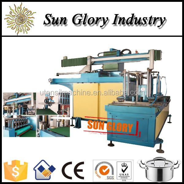 Auto press line for aluminum or stainless steel disc feeder