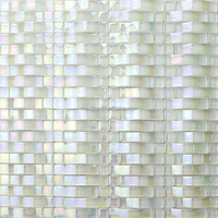 Arched glass mosaic tiles