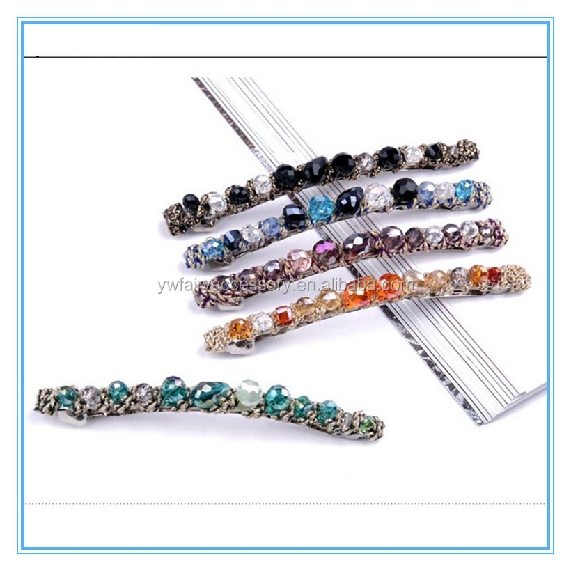 hair jewelry 2015 fancy rhinestone hair barrette