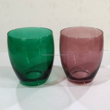 Green Apple Water Glass Tumbler, Purple Drinking Glass