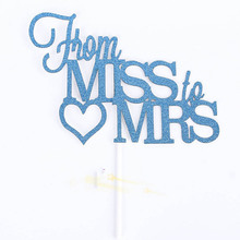 Mr Mrs Elegant Paper Wedding Cake Topper For Party Supply Decoration