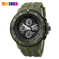 SKMEI Hot selling Men Watch Military LED Digital Analog Sports Wristwatch 3 atm water resistant watches#1046