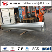 Tianjin galvanized pipe ! 558mm erw steel pipe garden used greenhouses for sale
