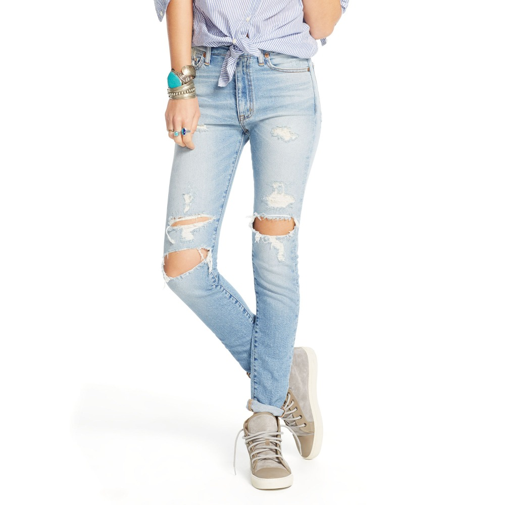 2016 latest design fashionable ripped jeans for women