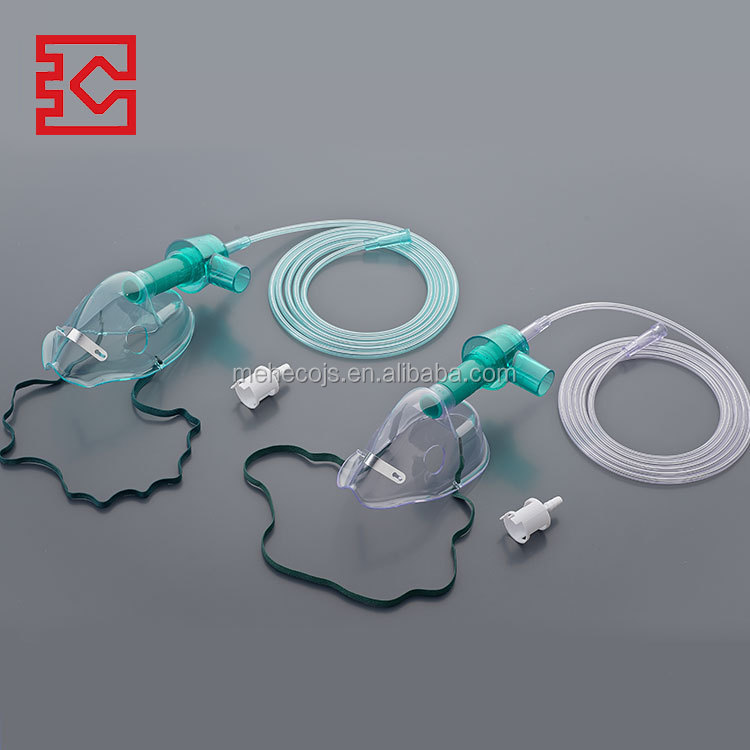 Hot selling inquiry product having nose clip 100% latex free and DEHP free fio2 oxygen venturi mask for copd