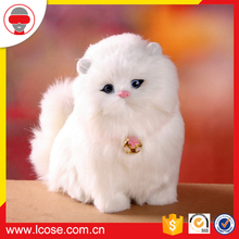 simulation handicraft wholesale cheap small handmade furry real kitten toy
