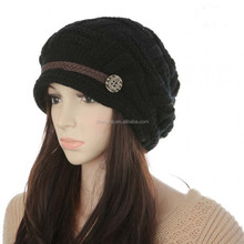 Cold Weather Crochet Woman Hat, Ski Hat for Girls XJX16092101-6