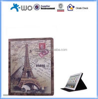 Retro British Style Scenic Monuments Eiffel Tower Pattern Leather Folio Stand Protective Case for Apple iPad Air/iPad 5