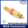 JR cctv rca male plug connector