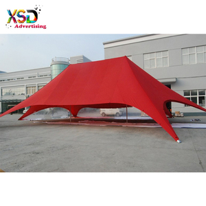 100 person two-pole star marquee carnival tent for festival celebration