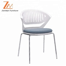 new design wholesale plastic chairs for reception or meeting room