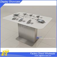 Name brand cell phone display table,cell phone display counter