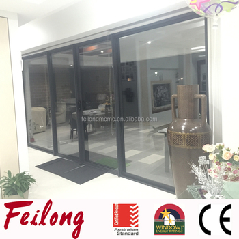 Customized Large Powder Coated Frame Aluminum Sliding Glass Doors with Fixed Door Passed AS2047 & Customized Large Powder Coated Frame Aluminum Sliding Glass Doors ...