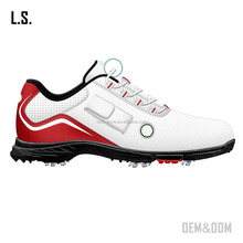 new arrived top quality men's golf shoe fashion hot sale rubber golf shoes outdoor grass golf shoe spikes