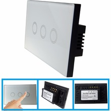 cool secure smart wireless <strong>switch</strong> Lowest price US 3Gang RV-TSW-US-3G001